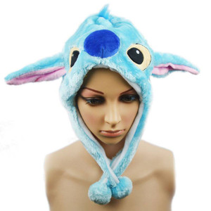 Stitch Plush Wrap-Around Hat
