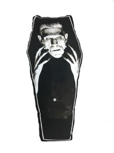 Go Rocker - Frankenstein's Monster Coffin-Shapped Throw Pillow