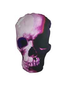Go Rocker - Pink Skull Throw Pillow