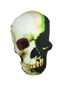 Go Rocker - Green Skull Throw Pillow