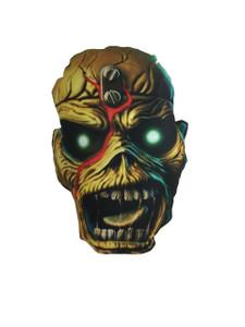 Go Rocker - Iron Maiden's Eddie the Head Throw Pillow