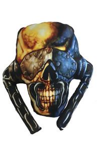 Go Rocker - Megadeth's Vic Rattlehead Throw Pillow