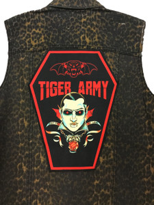 """Go Rocker - Tiger Army - Hurt for so long 13.5"""" x 10.25"""" Coffin Backpatch"""