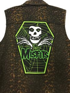 "Go Rocker - Misfits 13.5"" x 10.25"" Coffin Backpatch"