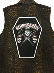 "Go Rocker - Nekromantix 13.5"" x 10.25"" Coffin Backpatch"