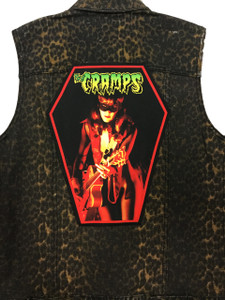 """Go Rocker - The Cramps - Ivy 13.5"""" x 10.25"""" Coffin Backpatch"""