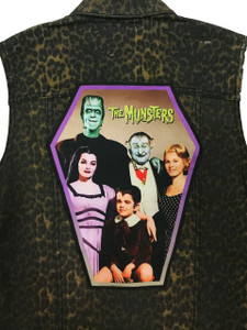 """Go Rocker - The Munsters 13.5"""" x 10.25"""" Coffin Backpatch"""
