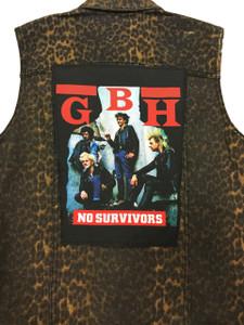"""Go Rocker - G.B.H. - No Survivors 13.5"""" x 10.5"""" Color Backpatch"""