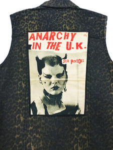 """Go Rocker - Sex Pistols - Anarchy in the U.K. 13.5"""" x 10.5"""" Color Backpatch"""