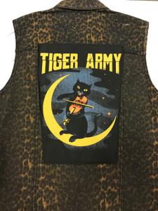 "Go Rocker - Tiger Army - Violin Cat 13.5"" x 10.5"" Color Backpatch"