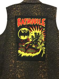 "Go Rocker - Batmobile - Psycho Carnival 13.5"" x 10.5"" Color Backpatch"