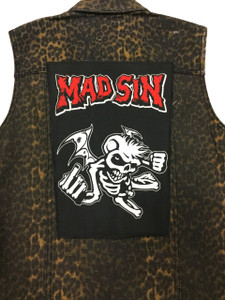 """Go Rocker - Mad Sin - Angel 13.5"""" x 10.5"""" Color Backpatch"""