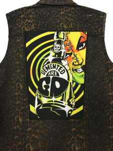 """Go Rocker - Demented are Go & the Deadbillies 13.5"""" x 10.5"""" Color Backpatch"""