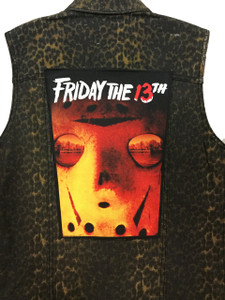 """Go Rocker - Friday the 13th 13.5"""" x 10.5"""" Color Backpatch"""