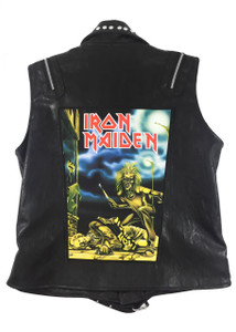 """Go Rocker - Iron Maiden 13.5"""" x 10.5"""" Color Backpatch"""