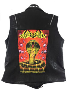 """Go Rocker - Toxic Holocaust - Chemistry of Consciousness 13.5"""" x 10.5"""" Color Backpatch"""