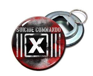 """Suicide commando 2.25"""" Metal Bottle Opener Keychain"""