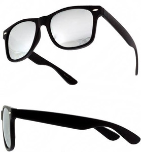 Black Mirrored Wayfarer Unisex Sunglasses