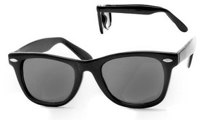 Classic Black Wayfarer Unisex Sunglasses