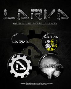 Larva - 4 Button Pack