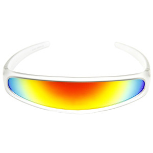 Clear Futuristic Polarized Linear Sunglasses