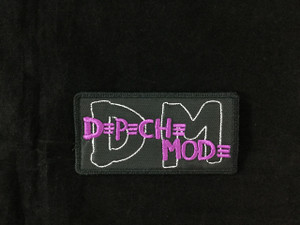 "Depeche Mode - Purple Logo 4.25x2.25"" Embroidered Patch"