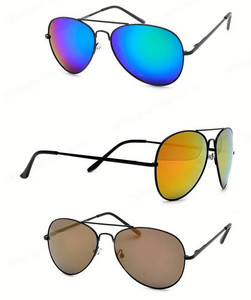Color Polarised Aviator Sunglasses