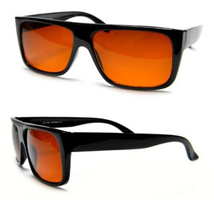 Brown Tint Black Sunglasses