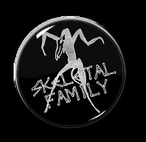 "Skeletal Family 1"" Pin"