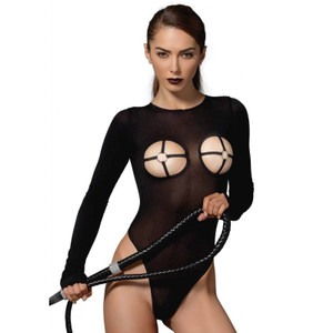 Leg Avenue - Kink Opaque High Cut G-String Teddy with O Ring Cups