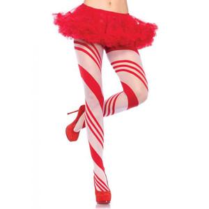 Leg Avenue - Candy Cane Striped Pantyhose