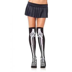 Leg Avenue - Skeleton Print Knee Socks