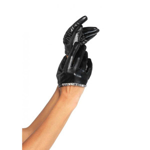Leg Avenue - Faux Leather Cropped Gloves