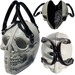 Kreepsville 666 - Skull Collection Handbag White