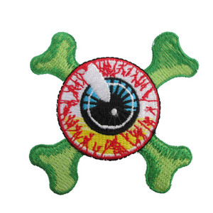 Kreepsville 666 - Eyeball Crossbones Iron On Patch
