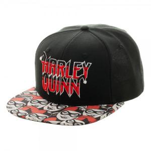 Harley Quinn Halftone Snapback Hat