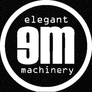 "Elegant Machinery - Logo 5x4"" Printed Patch"