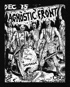 "Agnostic Front - Flyer 6x5"" Printed Patch"