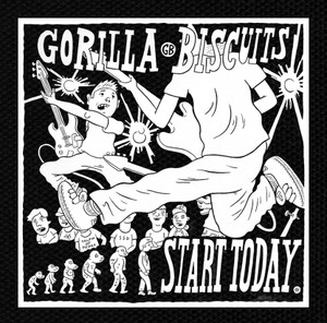 "Gorilla Biscuits - Start Today 5x4.75"" Printed Patch"