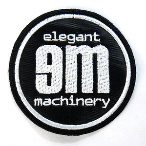 "Elegant Machinery - Logo 3"" Embroidered Patch"