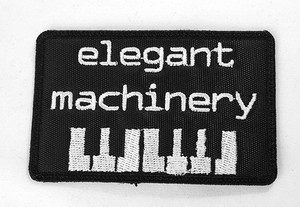 "Elegant Machinery - Keyboard 3"" Embroidered Patch"