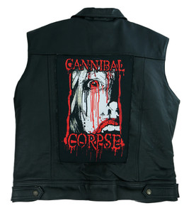 """Go Rocker - Cannibal Corpse - Bloody 13.5"""" x 10.5"""" Color Backpatch"""