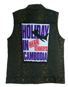"""Go Rocker - DK's Holiday in Cambodia 13.5"""" x 10.5"""" Color Backpatch"""
