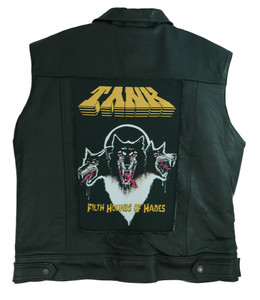"""Go Rocker - Tank - Filth Hounds of Hades 13.5"""" x 10.5"""" Color Backpatch"""
