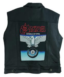 "Go Rocker - Saxon - Wheels of Steel 13.5"" x 10.5"" Color Backpatch"