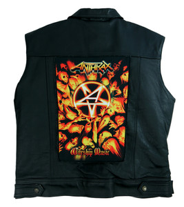 """Go Rocker - Anthrax - Worship Music 13.5"""" x 10.5"""" Color Backpatch"""