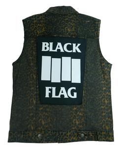"""Go Rocker - Black Flag 13.5"""" x 10.5"""" Color Backpatch"""