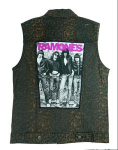 """Go Rocker - Ramones 13.5"""" x 10.5"""" Color Backpatch"""