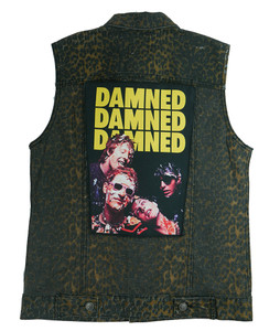 """Go Rocker - The Damned 13.5"""" x 10.5"""" Color Backpatch"""