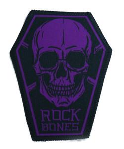"""Go Rocker - Rock Bones in Purple 6.75x3.5"""" Coffin Patch"""